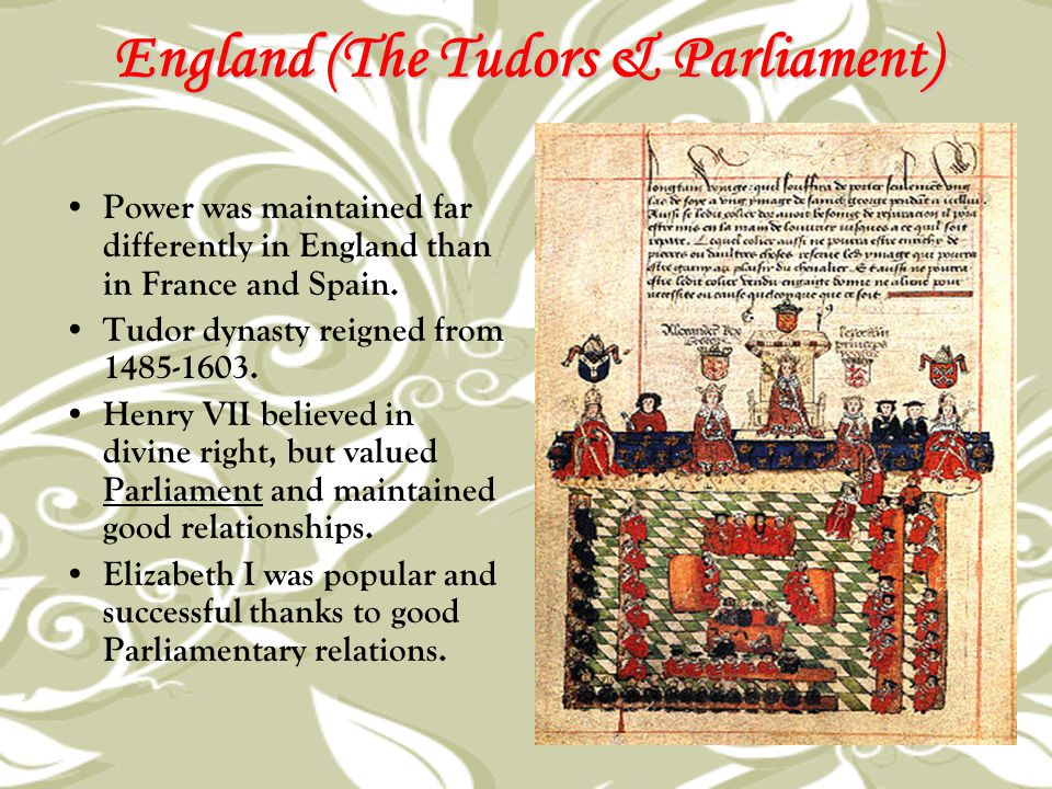 England (The Tudors & Parliament)