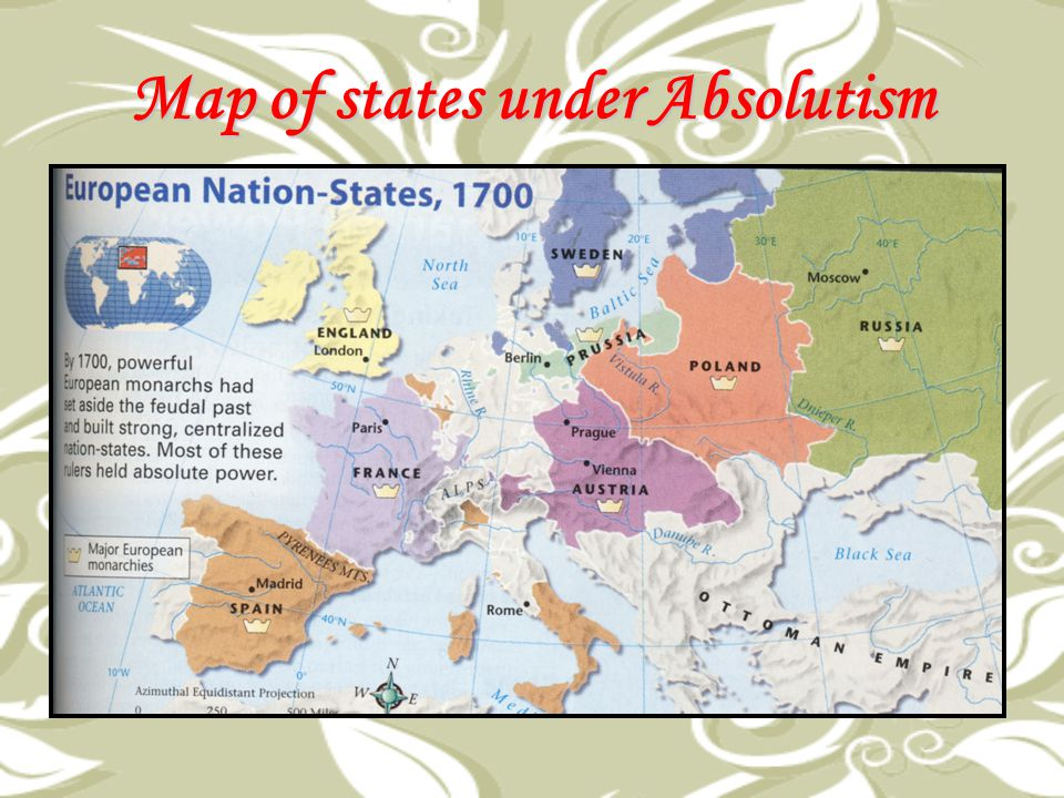 Map of states under Absolutism