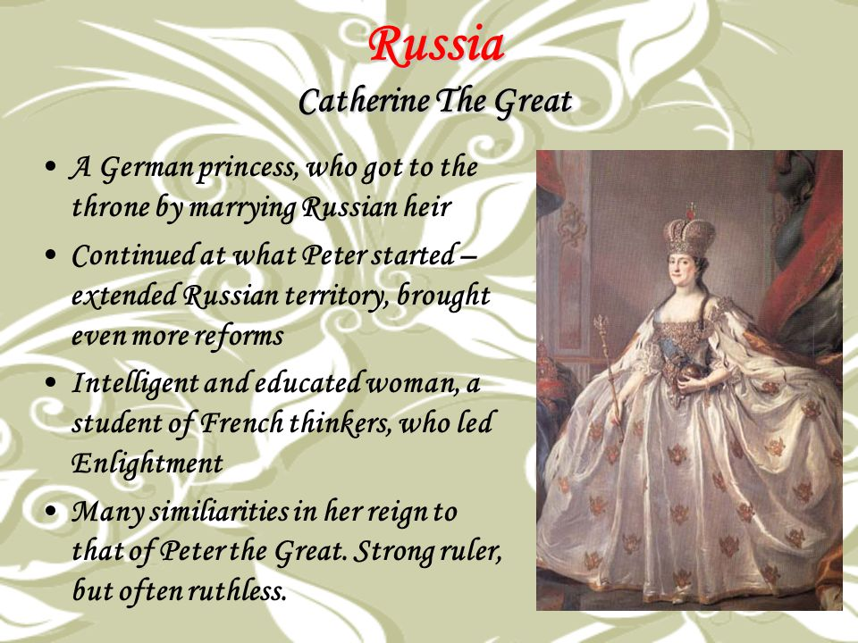 Russia Catherine The Great