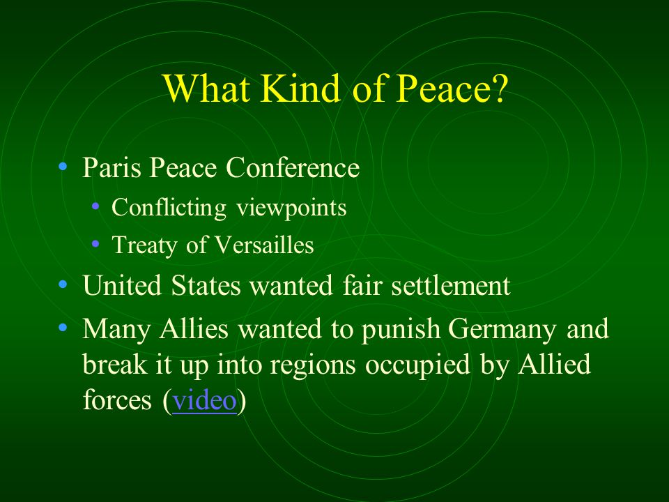 What Kind of Peace Paris Peace Conference
