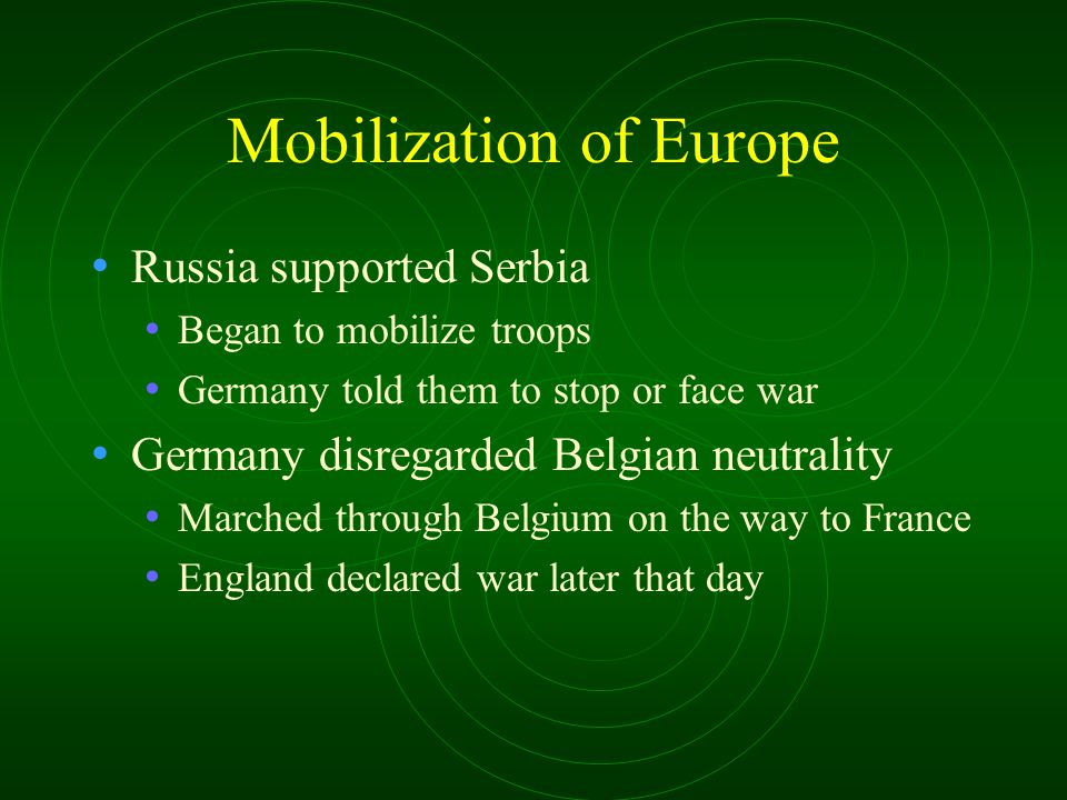Mobilization of Europe