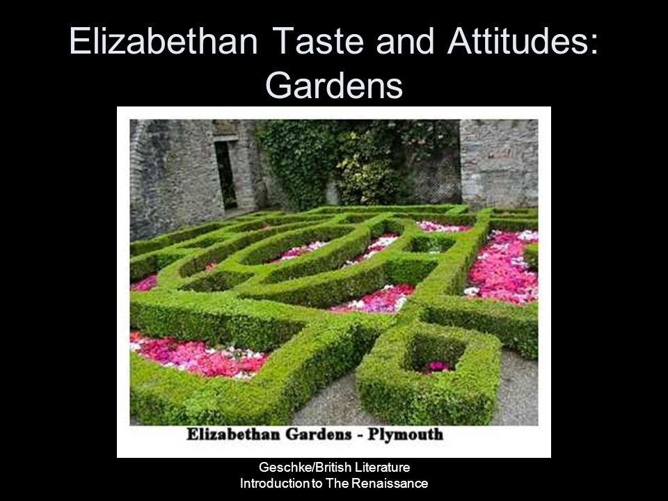 Elizabethan Taste and Attitudes: Gardens