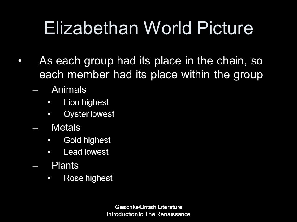 Elizabethan World Picture