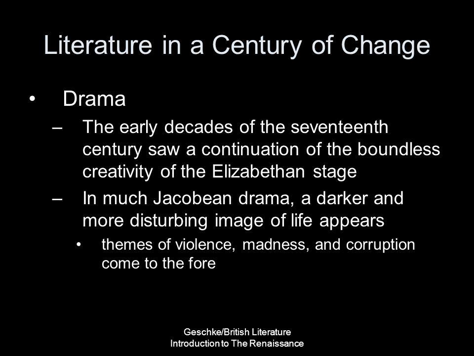 Literature in a Century of Change
