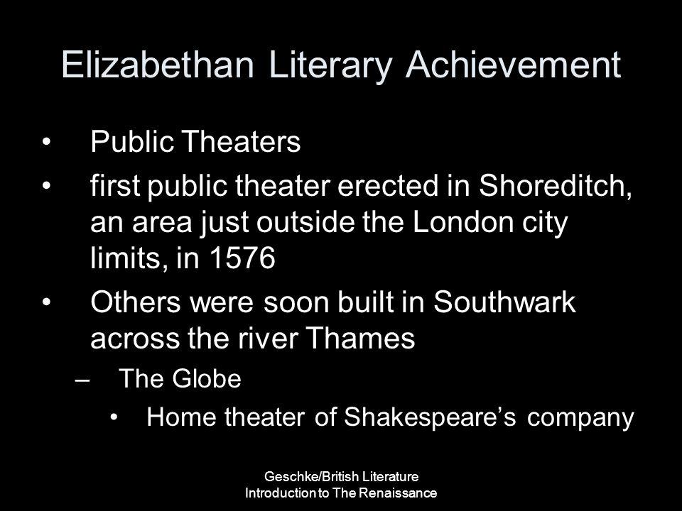 Elizabethan Literary Achievement