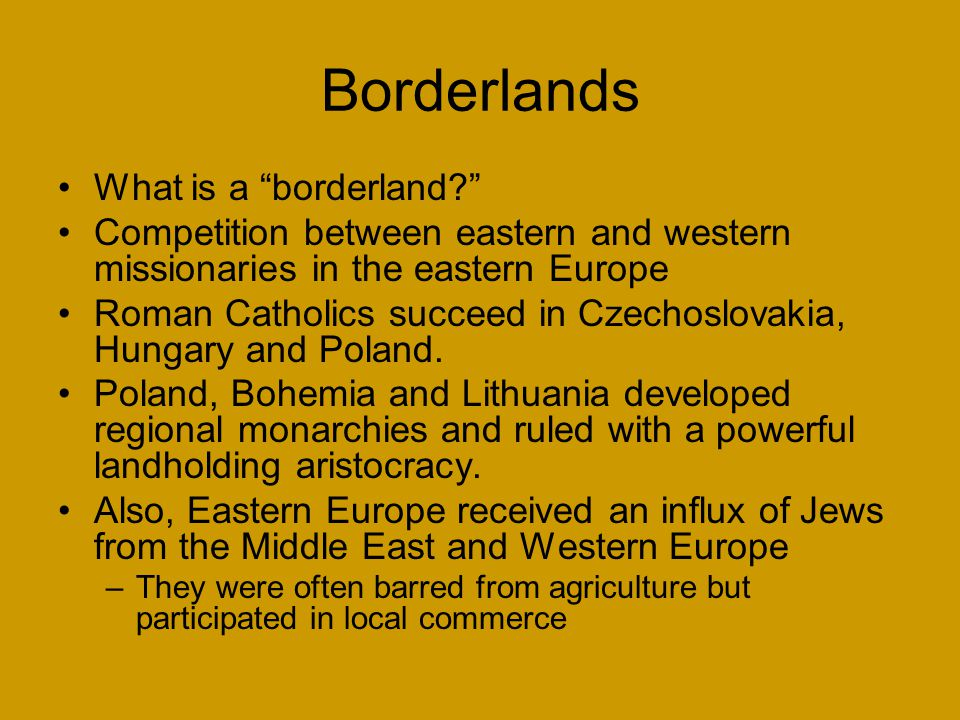 Borderlands What is a borderland