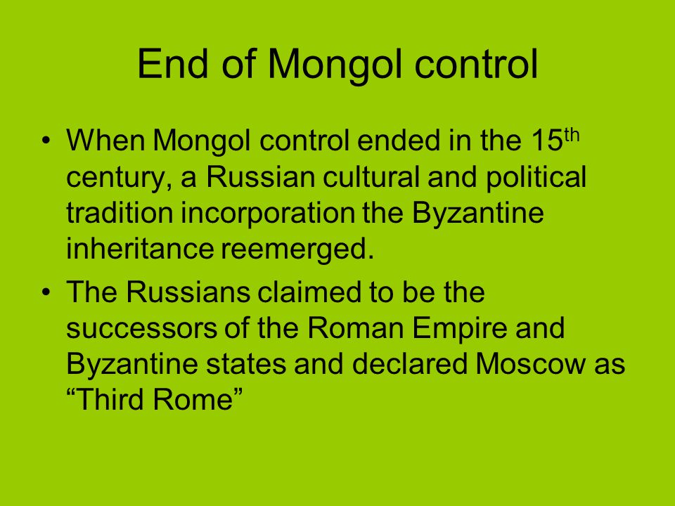 End of Mongol control