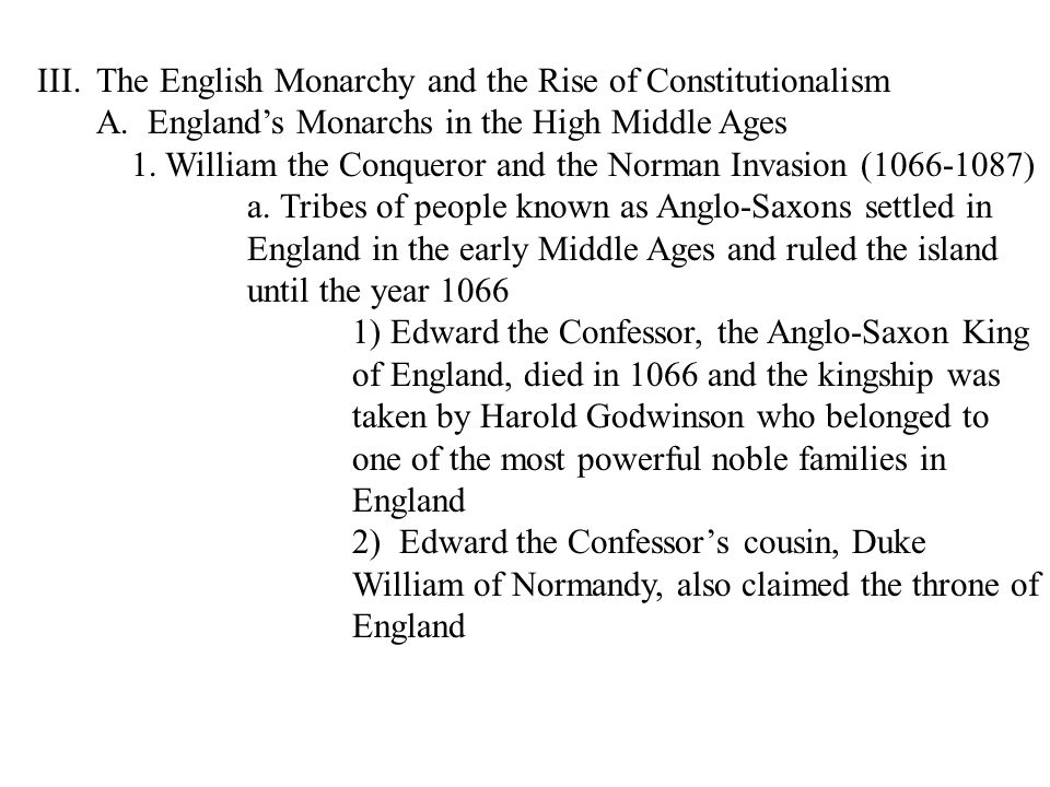 The English Monarchy and the Rise of Constitutionalism