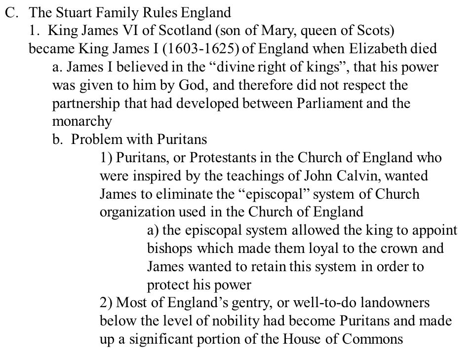 The Stuart Family Rules England