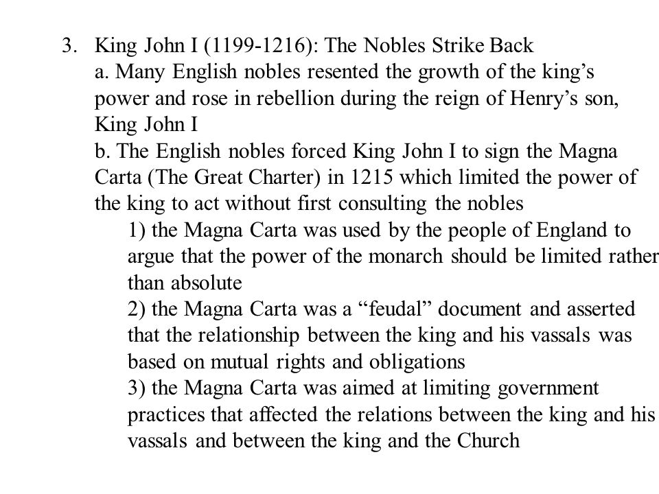 King John I (1199-1216): The Nobles Strike Back