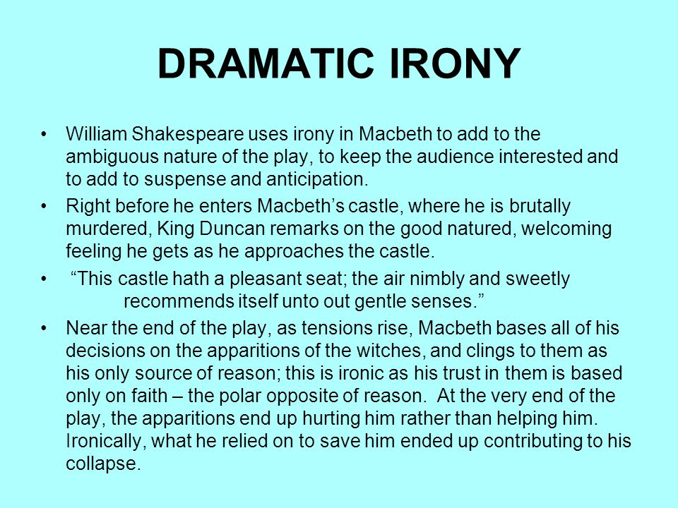 irony in hamlet Dramatic irony in hamlet essay - duration: 1:17.
