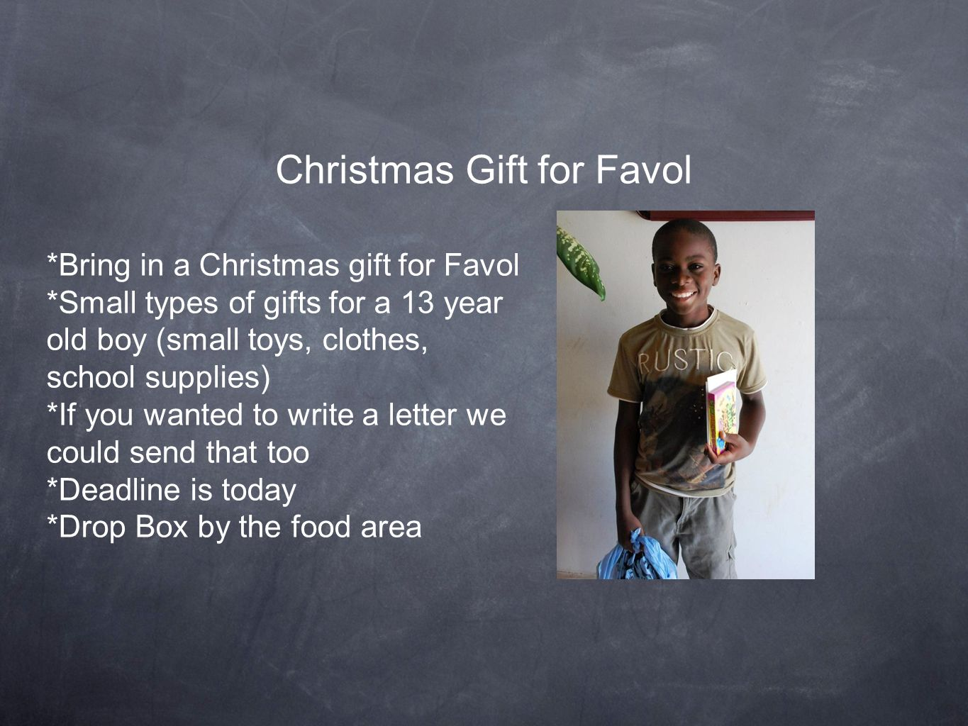 Christmas Gift for Favol