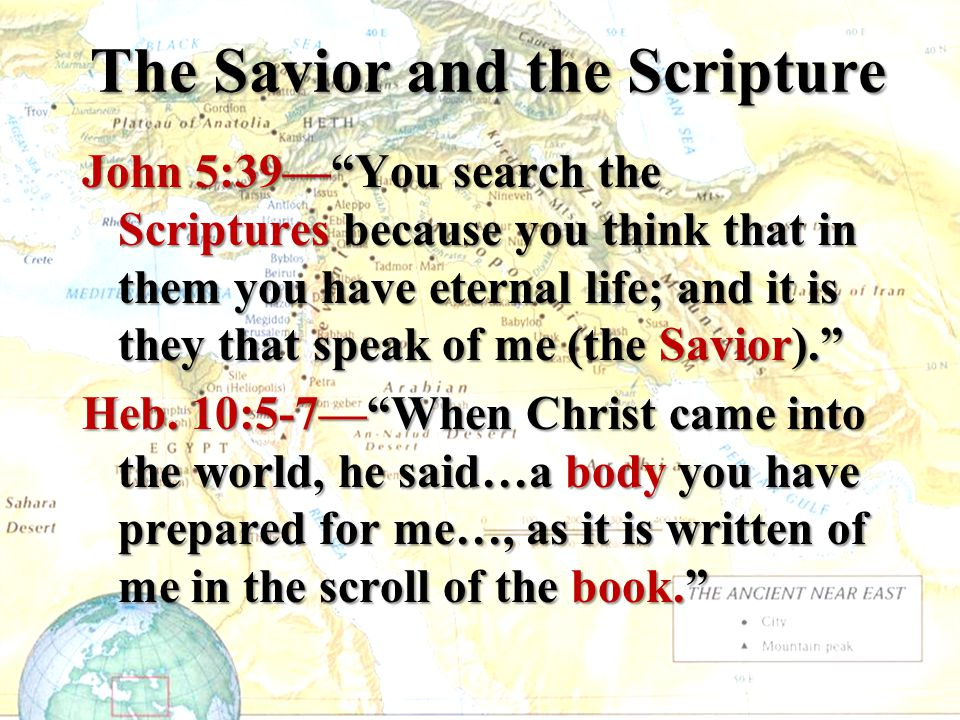 The Savior and the Scripture