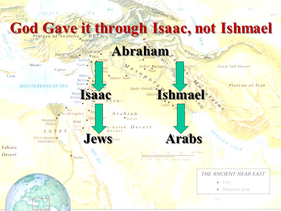God Gave it through Isaac, not Ishmael