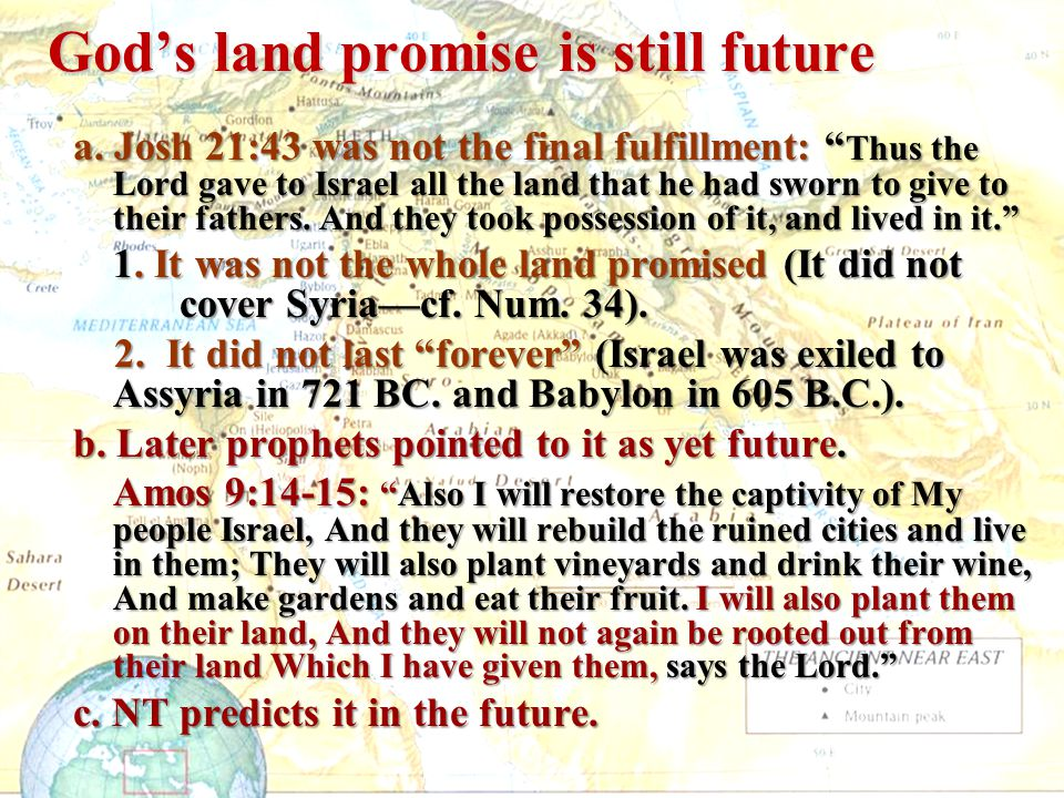 God's land promise is still future