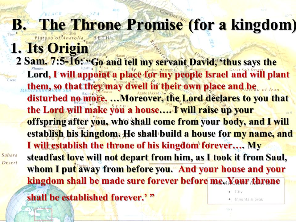 B. The Throne Promise (for a kingdom)