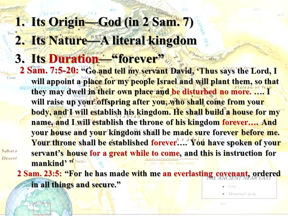 Its Origin—God (in 2 Sam. 7)