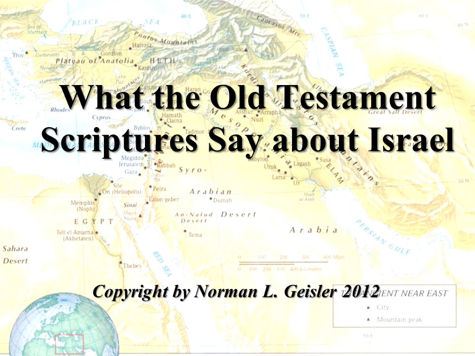 What the Old Testament Scriptures Say about Israel