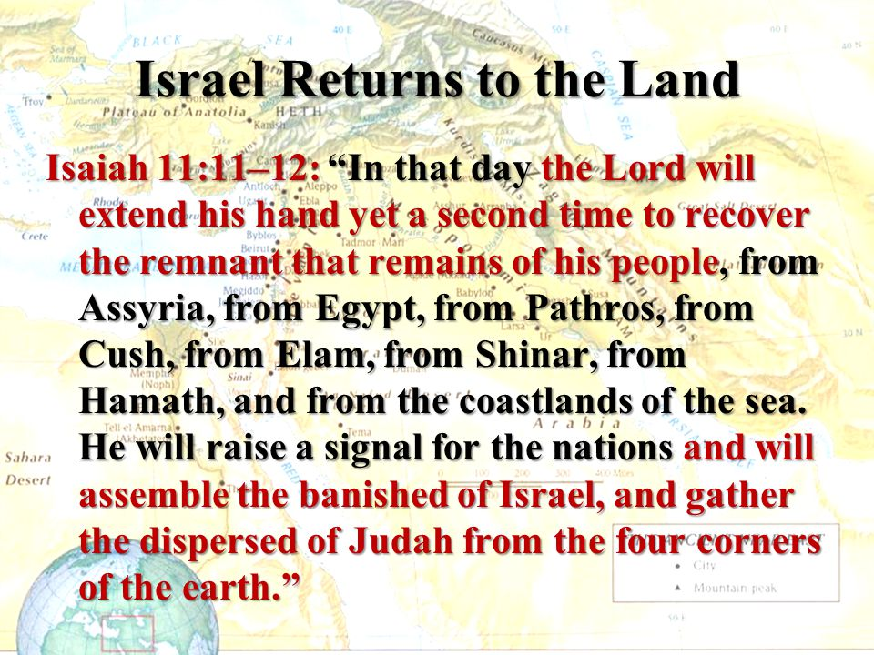 Israel Returns to the Land