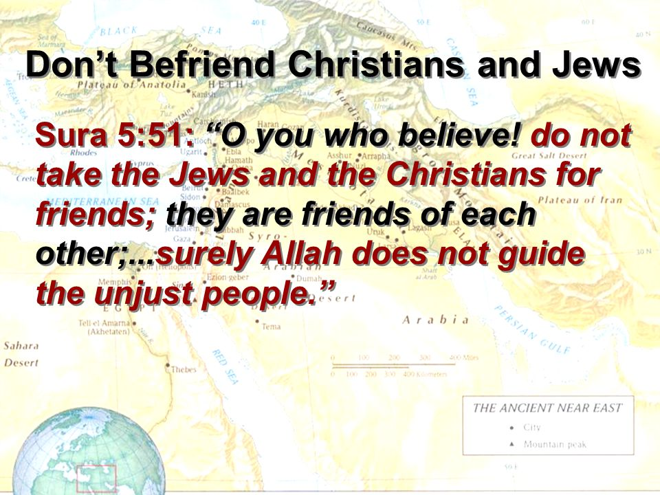 Don't Befriend Christians and Jews