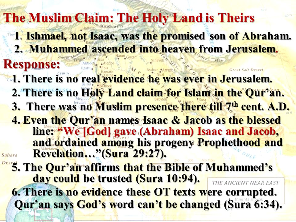 The Muslim Claim: The Holy Land is Theirs