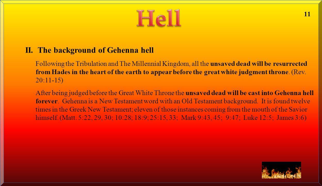 Hell II. The background of Gehenna hell 11