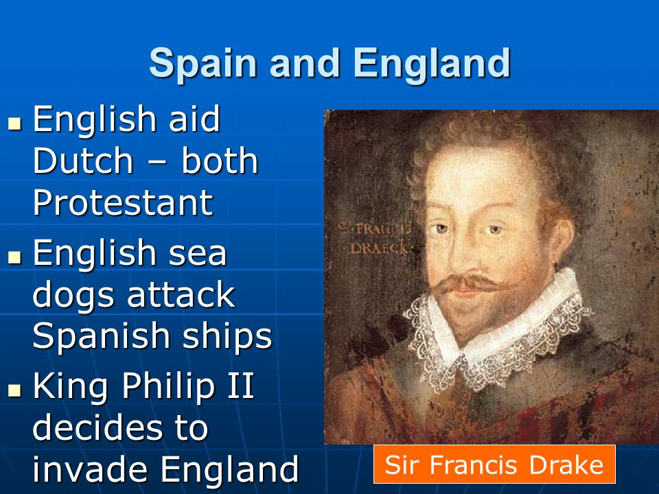 Spain and England English aid Dutch – both Protestant
