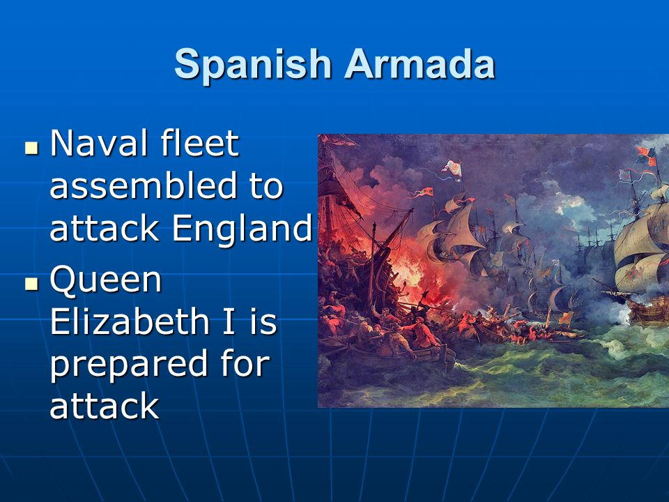 Spanish Armada Naval fleet assembled to attack England