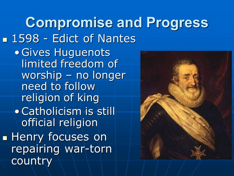 Compromise and Progress