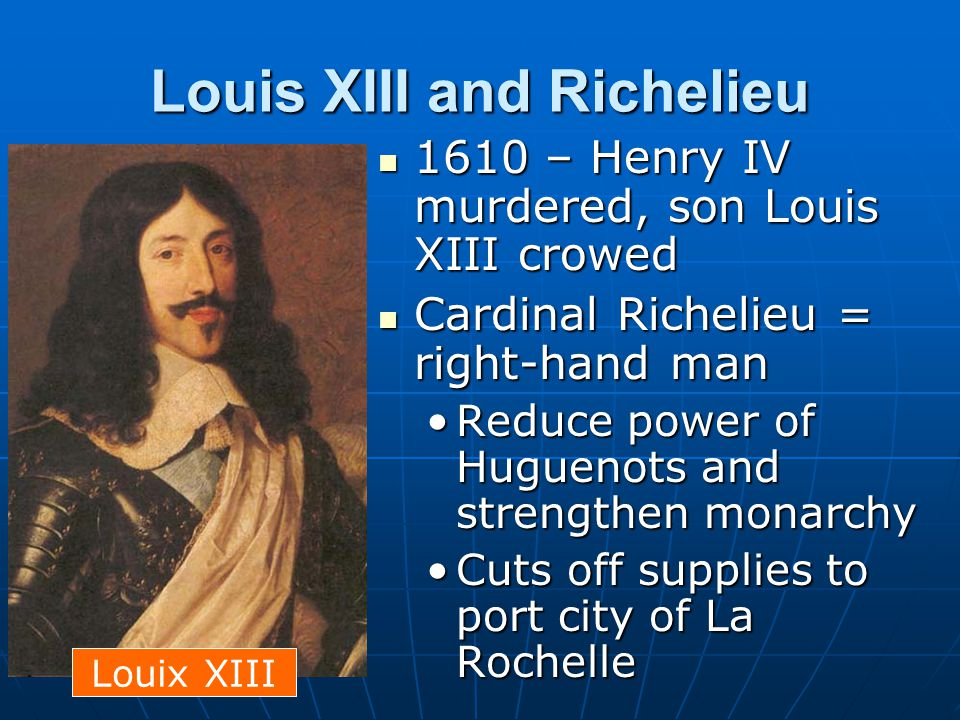 Louis XIII and Richelieu