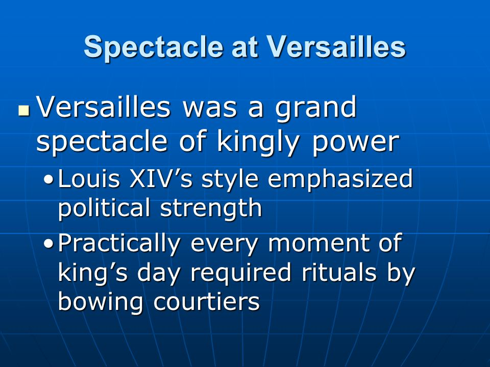 Spectacle at Versailles