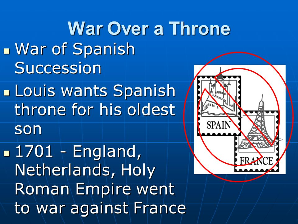 War Over a Throne War of Spanish Succession