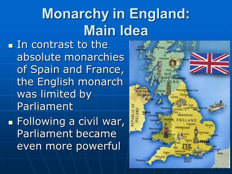 Monarchy in England: Main Idea