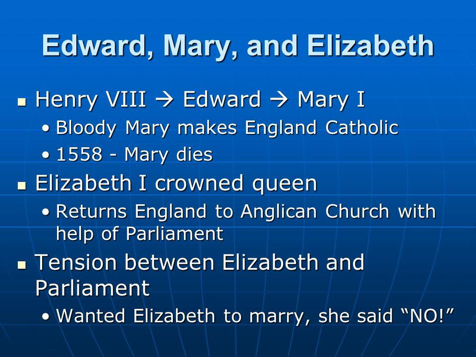 Edward, Mary, and Elizabeth