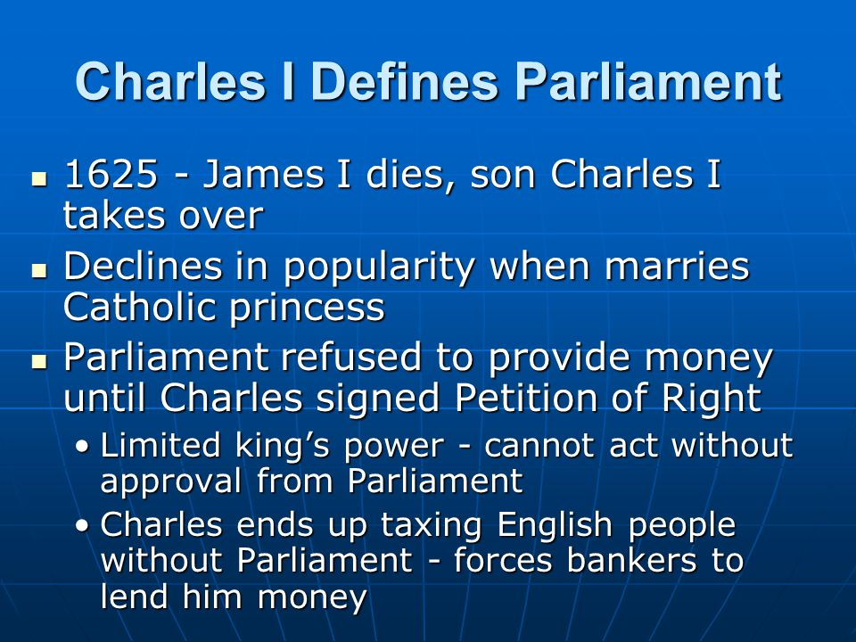 Charles I Defines Parliament