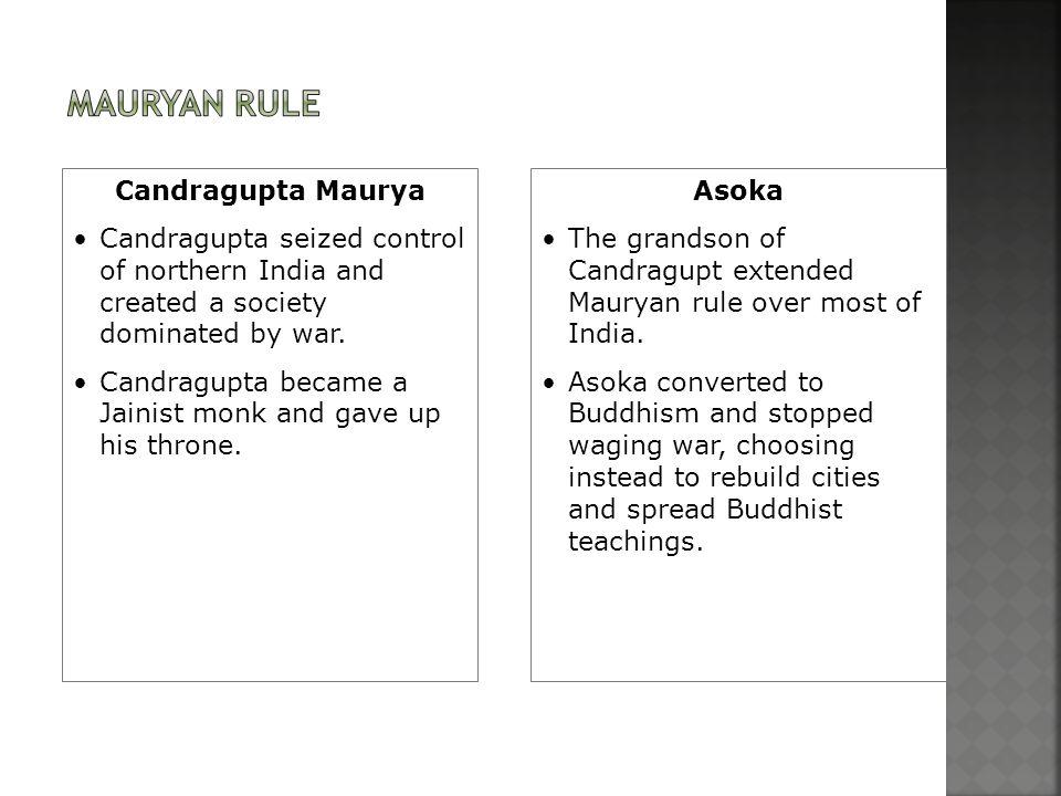 Mauryan Rule Candragupta Maurya