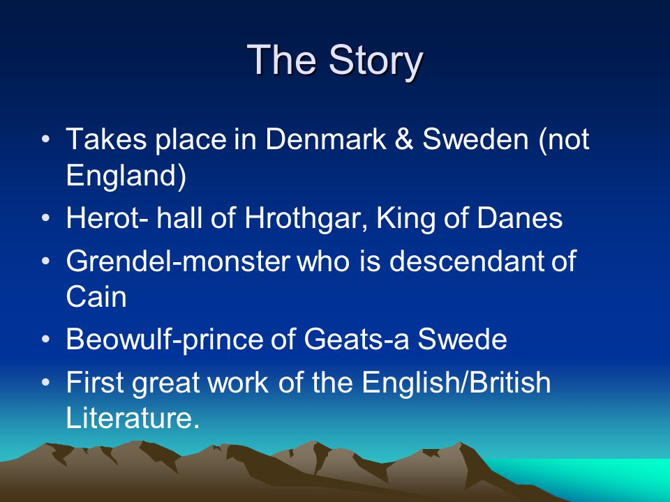 The Story Takes place in Denmark & Sweden (not England)