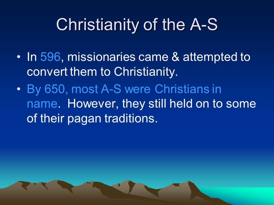 Christianity of the A-S