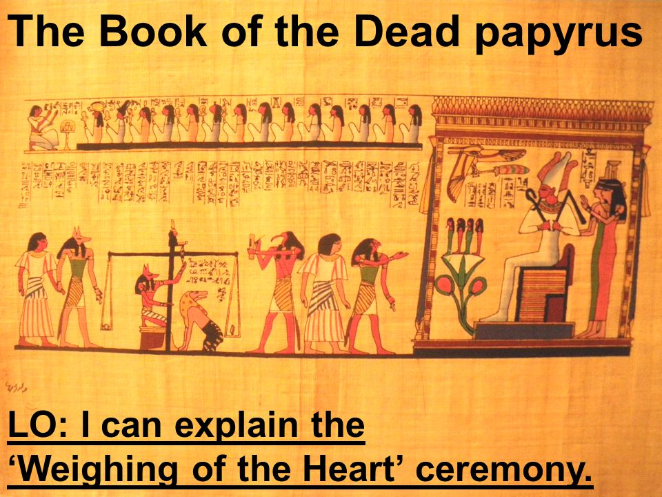 The Book of the Dead papyrus
