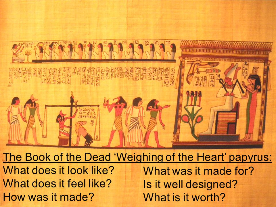 The Book of the Dead 'Weighing of the Heart' papyrus: