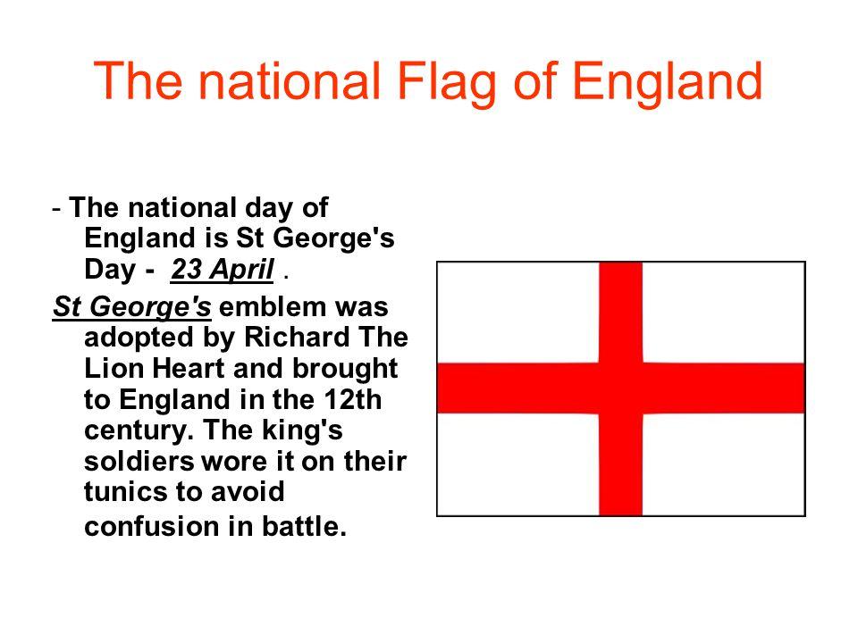 The national Flag of England