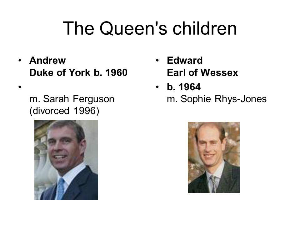 The Queen s children Andrew Duke of York b. 1960