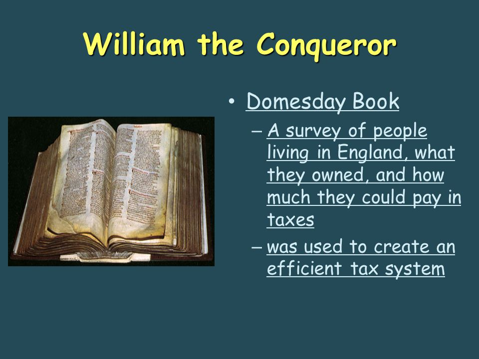 William the Conqueror Domesday Book