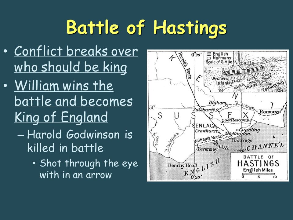 Battle of Hastings Conflict breaks over who should be king