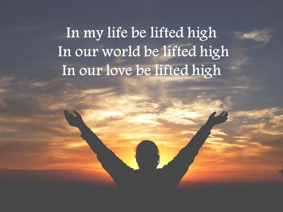 In my life be lifted high In our world be lifted high
