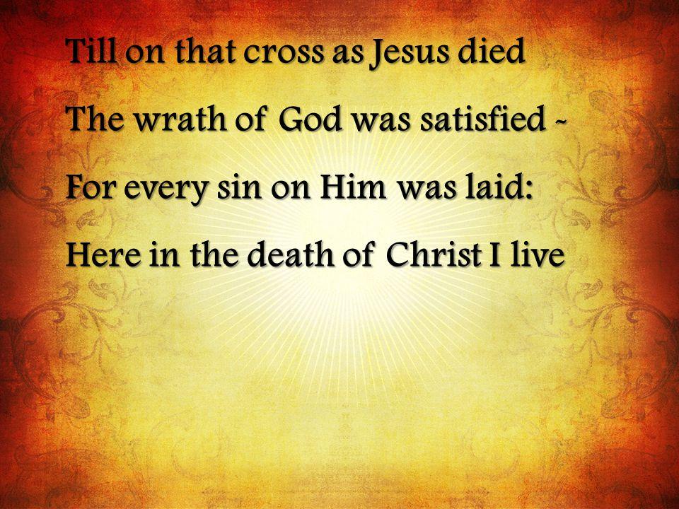 Till on that cross as Jesus died