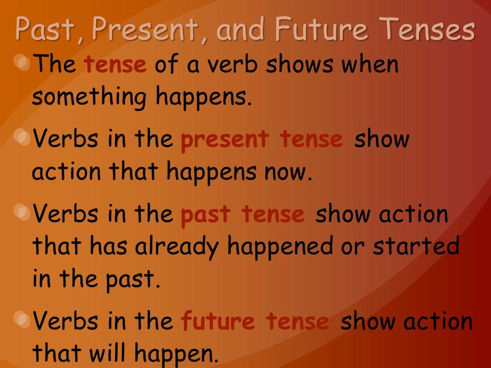 Past, Present, and Future Tenses