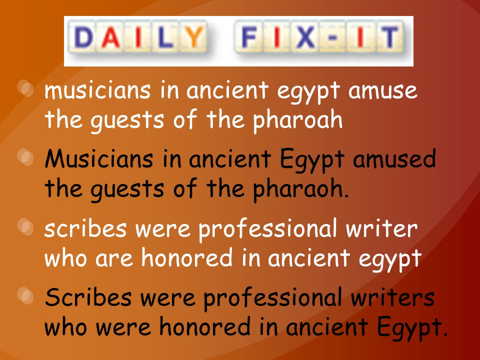 musicians in ancient egypt amuse the guests of the pharoah