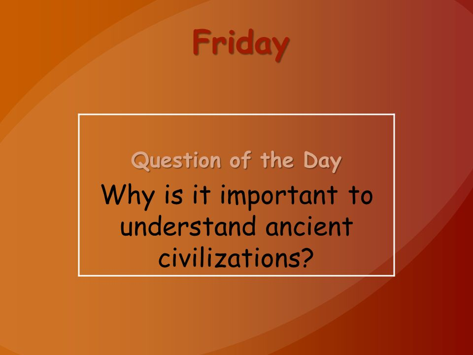 Why is it important to understand ancient civilizations