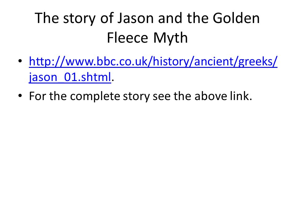 The story of Jason and the Golden Fleece Myth